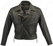 Quality Men's Beltless Biker Jacket #HS5540BLK wholesale