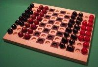 Quality Wooden Marble Game Board, 2 GAMES IN 1, Chess & Checkers, Maple & Walnut [W-1929alt.#2] wholesale