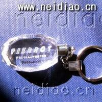 PIERROT icon-Keychains 3D Laser Crystal