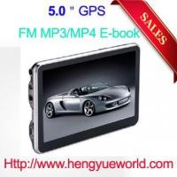 5' gps navigation HD touch screen 128M DDR 4GB memory with free map FM Transmitter