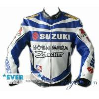 Quality Wholesale:SuzukiMotorcycleRacingLeatherJacketWithRemovableArmorLeather(PU)Jacket wholesale