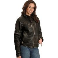 Quality Milwaukee Crazy Horse motorcycle leather jacket wholesale