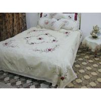Quality Manual embroidery bedspread set wholesale