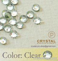 Quality Clear Hot Fix Rhinestones / Iron On Rhinestones wholesale