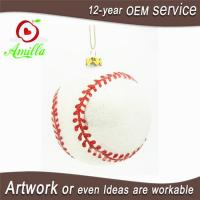 Quality Blown Glass Sports Baseball For Christmas Tree Ornaments wholesale