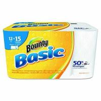 """Quality Bounty 92972 Basic Select-A-Size Paper Towels, 5 9/10"""" x 11"""", 1-Ply, White Pack of 12 wholesale"""
