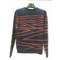 Quality Hot sale design black and red knitted pattern long sleeve sweater for men wholesale