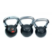 Rubber Kettlebell with Chromed Handle