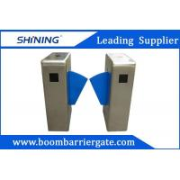 550mm Breadth Single Lane Flap Barrier For Security With QR Code Reader
