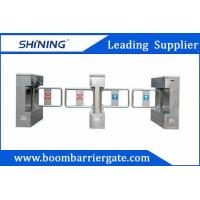 510mm Width Acrylic Turnstile Swing Barrier Gate , Pedestrian Access Control