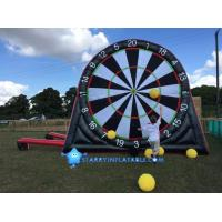 Quality New type inflatable foot darts game inflatable soccer kick dart board with magic tape wholesale