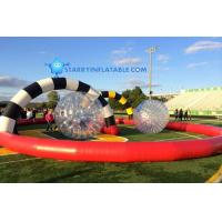 Hight Quality Outdoor Inflatable Zorb Ball Race Track for bowling