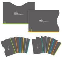 RFID Blocking Sleeves 12 Credit Cards 2 Passports Holders for Identity Theft Protection