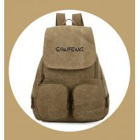 Quality Popular Waxed Canvas Backpack for Girls, Fashionable Casual Gear Backpack Factory Price wholesale