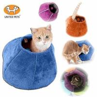 United Pets Kitty Cat Cozy Cave & Bed Purple