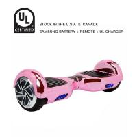 Best Classic Self Balancing Scooter 6.5 Inch Hoverboard Chrome Pink wholesale