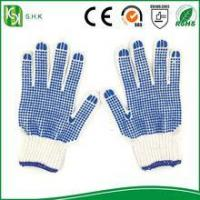 Quality Blue PVC Coated String Knit working cotton Gloves wholesale