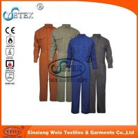 Safety workwear EN1149 wholesale flame retardant cotton coverall for workers