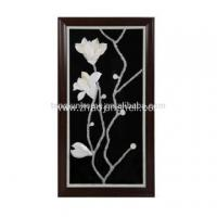 Quality Unique Shell Made Magnolia Flower Shape Wall Picture for Decoration wholesale