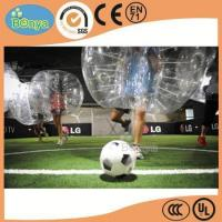 Quality hot sale crazy 1.0mm TPU roll inside bubble ball soccer/soccer bubble ball/bubble football for sale wholesale